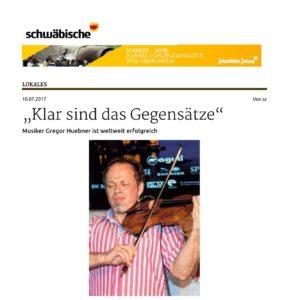 Schwäbische Zeitung vom 10.7.2017, Interview