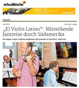Schwäbische Zeitung vom 10.7.2017