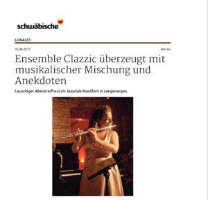 Schwäbische Zeitung vom 12.9.2017